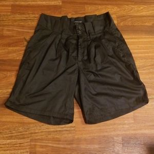 New Black Ashley Stewart High Waist Shorts